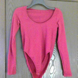 Forever 21 Red Ribbed Body Suit